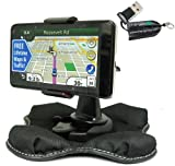 ChargerCity NonSlip Beanbag Friction Mount for Garmin Nuvi 2457 2497 2557 2597 42 44 50 52 54 55 56 57 57LM LT T LM LMT GPSInclude ChargerCity MicroSD Memory Card Reader