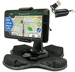 ChargerCity NonSlip Beanbag Friction Mount for Garmin Nuvi 2457 2497 2557 2577 2597 30 40 42 44 50 52 54 55 56 LT T LM LMT GPS *Include Free ChargerCity MicroSD Memory Card Reader & Direct Replacement Warranty*