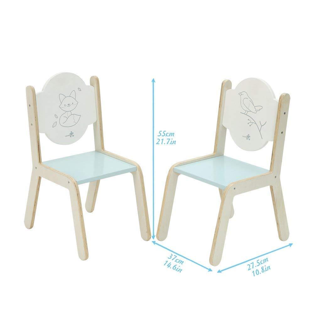 Kinderm/öbel Spielzeug F/ür 1-5 Jahre Alt. Activity Tisch und Stuhl kindertisch und st/ühle holztisch kinder 2 st/ühle Blauer Igel Tisch Stuhl Kinder