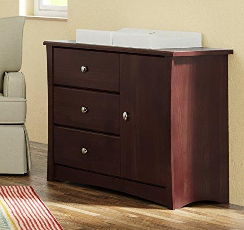 Storkcraft Crescent 3 Drawer Combo Dresser Espresso