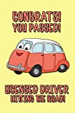 Congrats! You Passed! Licensed Driver Hitting The Road!: Lined Journal