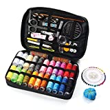 Arts & Crafts : Sewing Kit, RVOKOMS 128 DIY Premium Sewing Accessories for Women, Beginner, Traveller, Emergency, 24 Color Spools of Thread, Suit for Travel and Home Sewing Supplies