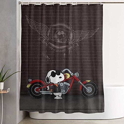 LIUYAN Shower Curtain with Hook - Cool Snoopy Waterproof Polyester Fabric Bathroom Decor 60 X 72 Inches ()
