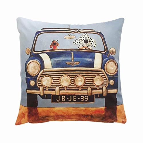 Clearance Pillowcases, Litetao Modern Cartoon Printed Pillow Cover Animal Cushion Throw Pillowcase for Home Bar Car Bedroom Cafe Decorative Halloween Christmas (A) for $<!--$0.01-->