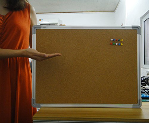 Bulletin board set cork board 24 x 18 10 color pins Cubicle bulletin board ideas