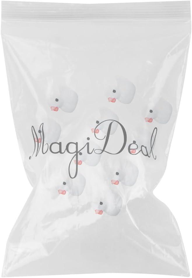 MagiDeal 10pcs Mini Canard Blanc Miniature D/écoration Bonsai Pot de Fleur Micro Paysage