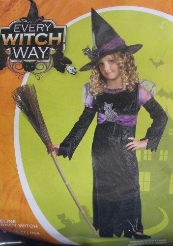 Feline Fancy Witch Costume for girls (L (10-12_) -