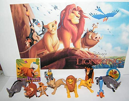 Amazon Com Playful Toys The Lion King Movie Deluxe Figure Set Of 12 Toy Kit With Sticker Toyring And 10 Figures Featuring All The Favorite Characters Like Simba Timon Pumbaa And Many More
