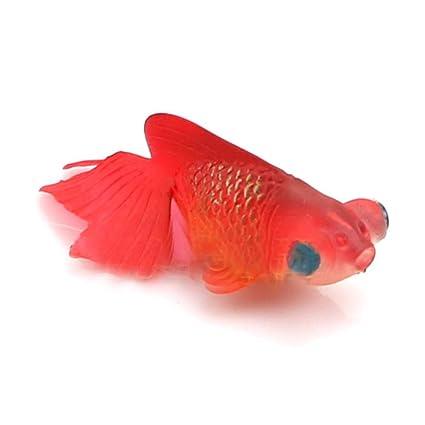 Xiton Pecera de Acuario Plastic Swimming Gold Fish Decoration (5 Red) 1 PC