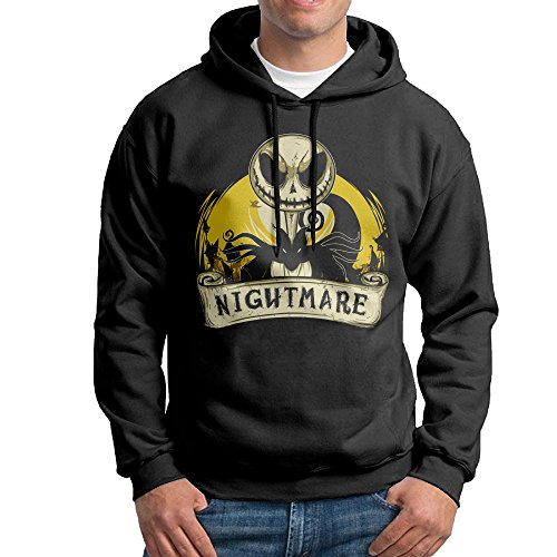 [Nightmare Before Christmas Jack Skellington Men's Fashion Hoody] (Car Wash Costume Ideas)