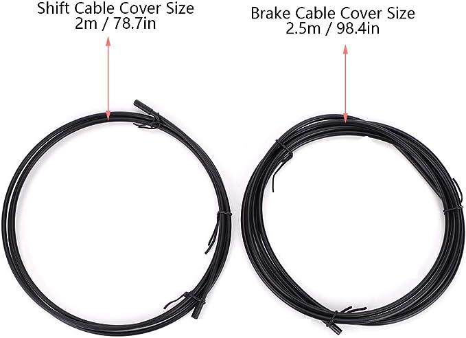 Keenso Cable Metal de Freno, Kit de Funda de Cable de Freno de ...