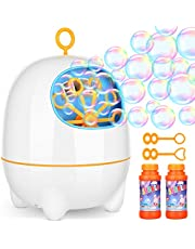 Amagoing Bubble Machine, Automatic Bubble Blower for Kids with Bubbles Solutions for Outdoor/Indoor Use