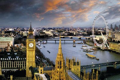 Amazon.com: Skyline de Londres Inglaterra Foto Cartel de ...