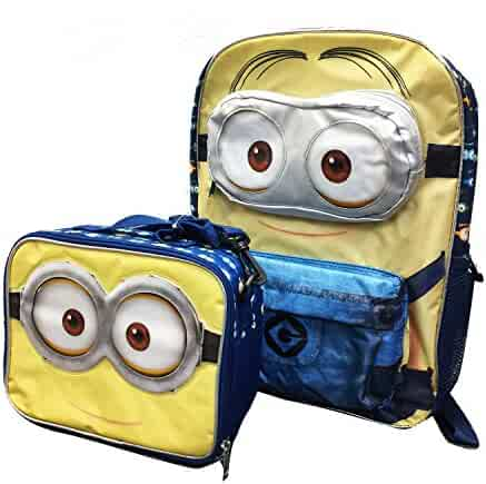 """Despicable Me Minion 16/"""" inches rolling backpack for kids Eye Gots Mad"""