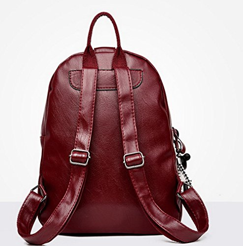Daypack Fashion Voguezone009 Backpacks Pu Burgundy Ccaybp181059 Backpacks Charms Women Hiking xnFarIn7