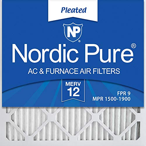 - Nordic Pure 18x18x1 MERV 12 Pleated AC Furnace Air Filters, 18x18x1M12-6, 6 Pack