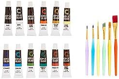 Acrylic Paint Set & Brushes by Creative ...