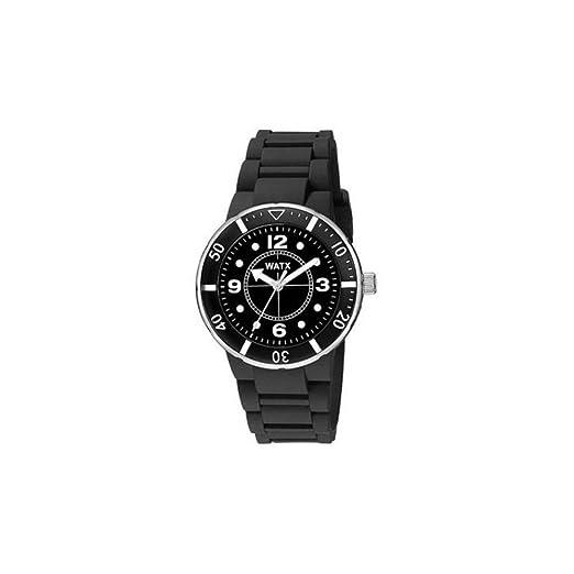 Watx Reloj Análogo clásico para Mujer de Cuarzo con Correa en Caucho RWA1601: Amazon.es: Relojes