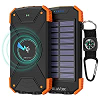 Solar Power Bank, Qi Wireless Charger 10...