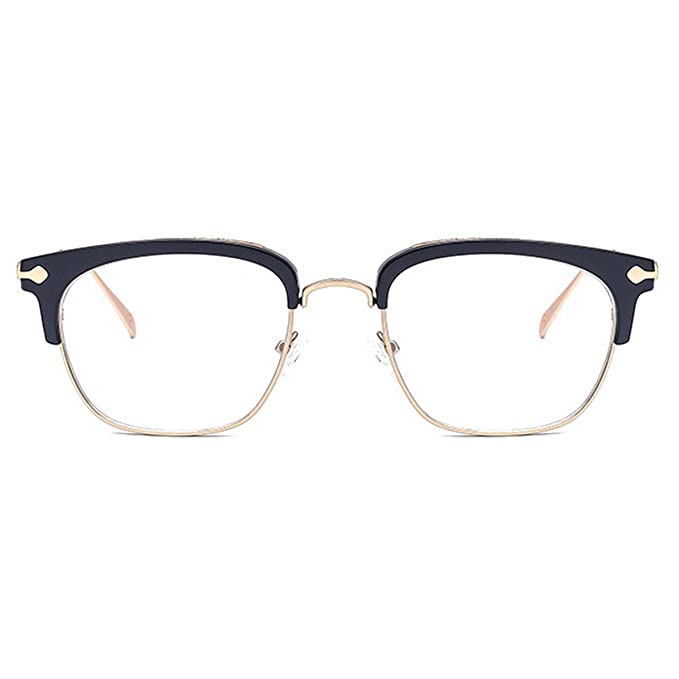 Unisex Retro Occhiali Telaio In Metallo Lente Vintage Moda Occhiali Da Vista Occhiali E Lenti Uomini Donne,C4-OneSize