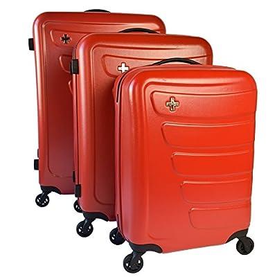 Swiza Hard Case Justus Set of 3Red - luggage