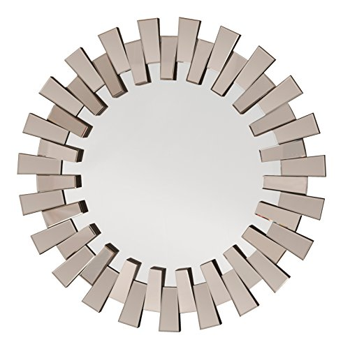 OSP Designs Apollo Glass Round Wall Decor, Mirror