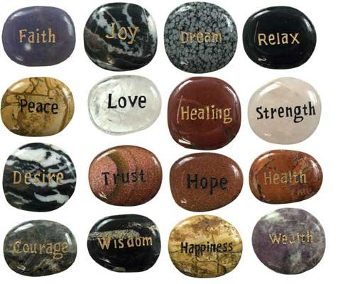 TGS Gems® STONE - POSITIVE WORDS (PK 25) by GYPSY PALACE