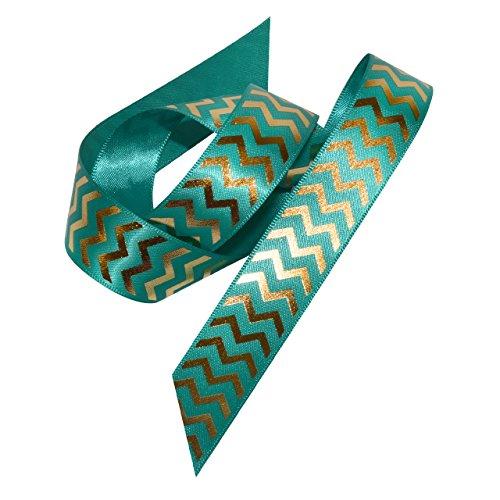 Morex Ribbon 98422/25-342 Gilded Chevron Polyester, 7/8