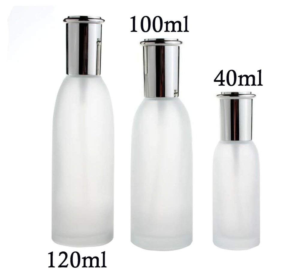 1PCS 40ml Empty Refillable White Glass Spray Bottle with Fine Mist Sprayer and Silver Lid for Travel Storage Makeup Cosmetic Essential Oil Organic Beauty Products (40ml) erioctry