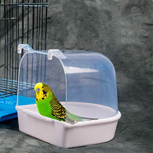 PIVBY Parrot Bath Box Bird Cage Accessory Supplies Bathing Tub for Brids Canary Budgies Parrot (Random Color) from PIVBY