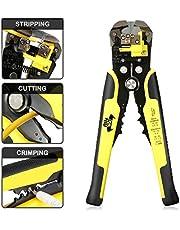 Wire Stripper, DANIU Stripper Cutter AWG10-24 Compound Automatic Wire Stripper Plier 3-in-1 Hand Tool Self-Adjusting Cable Stripper, Wire Cutter and Terminal Crimper