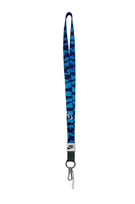 save off c679a ad177 Amazon.com   Nike Graphic Lanyard (OSFM, Concord White Vibrant Blue)   Key  Tags And Chains   Office Products