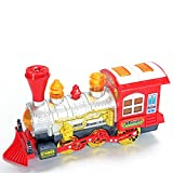 KiiToys Bubble Toy Steam Train - Blows bubbles while moving with flashing lights & music, battery operated with KiiSports Warranty & Tech Support