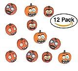 Halloween Funny Face Pumpkin Decorating Premium Craft Kit Foam Stickers – 12 Pumpkins