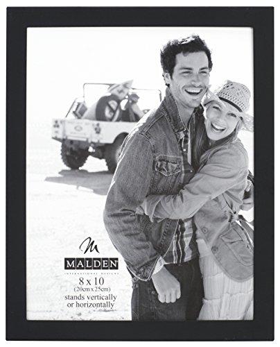 Malden International Designs Matte Black Essential Fashion Metal Picture Frame, 8x10, Black ()