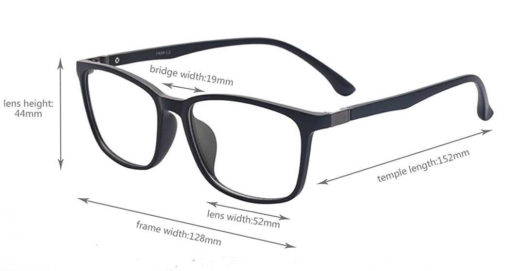 bca7ddbb8dc Amazon.com  Outray Rectangle Designer Glasses TR90 Frame With Clear Lens  Glasses 2177c1 Black  Shoes