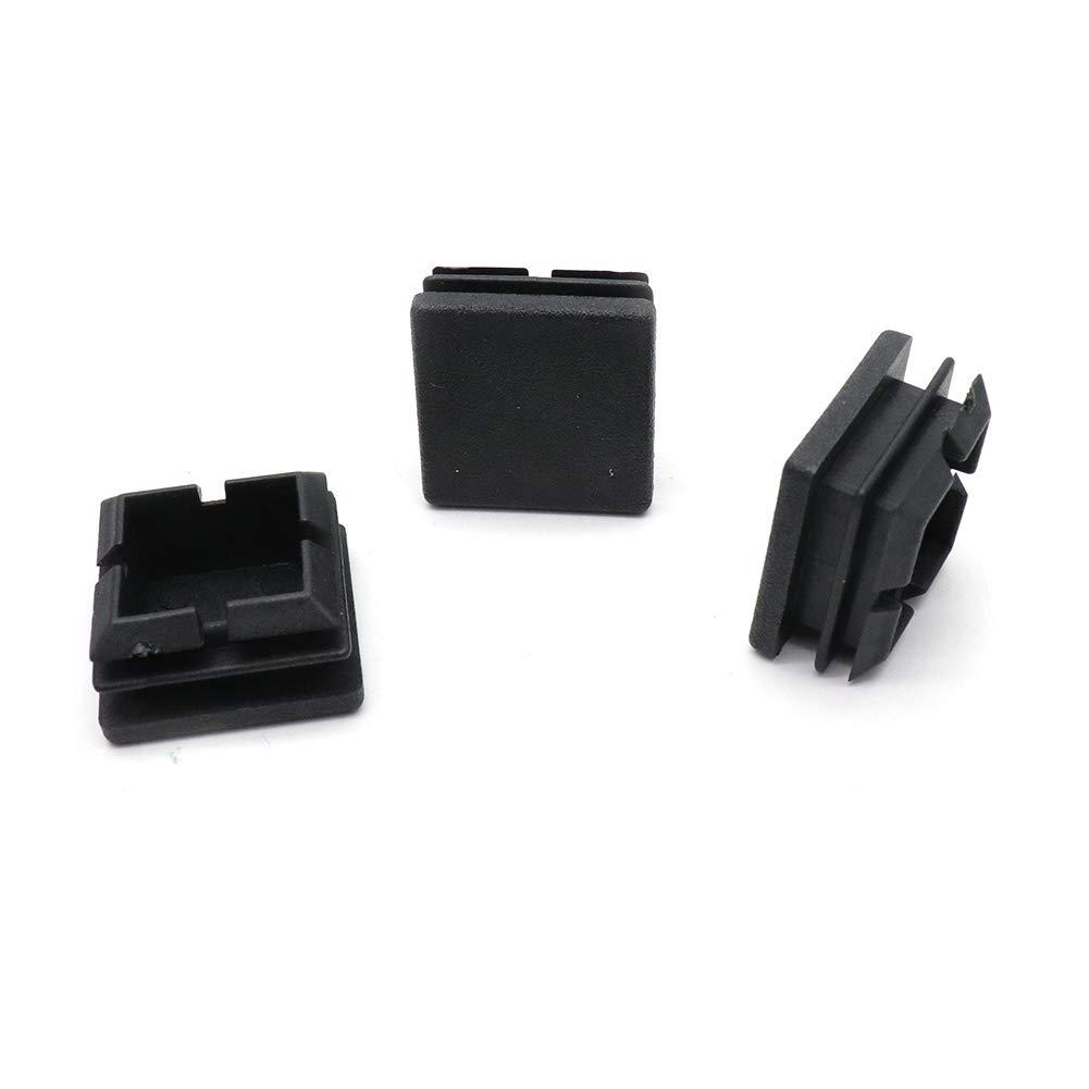 25x25mm//1x1 BTMB 50 Pcs Square Plastic Plug Black Furniture Chair Leg Foot Cover Cap Tubing Inserts End Cap