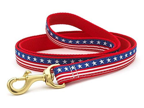 Image of Up Country Stars & Stripes Dog Leash - 4 Ft Wide