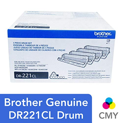 Brother Genuine Drum Unit, DR221CL, Seamless Integration, Yields Up to 15,000 Pages, ()