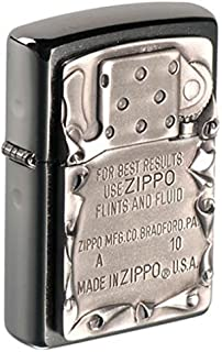Zippo use emblem, notice d'utilisation, chrome brossé