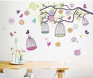 Jaula de pájaros decorativos de papel, dormitorio de papel, sala ...