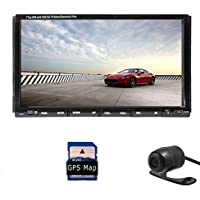 7 Inch Touchscreen Universal Double Din Car Stereo Radio with Gps Navigation Bluetooth Fm Am Win-8 Ui Sd USB Aux +Remote Control Free Camera Included