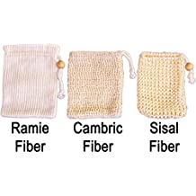 Soap Saver Sampler - Natural Skin Care – Eco-Friendly Bath Exfoliating – Learn Differences of Sisal, Cambric and Ramie Fiber Pouches from SeaSationals