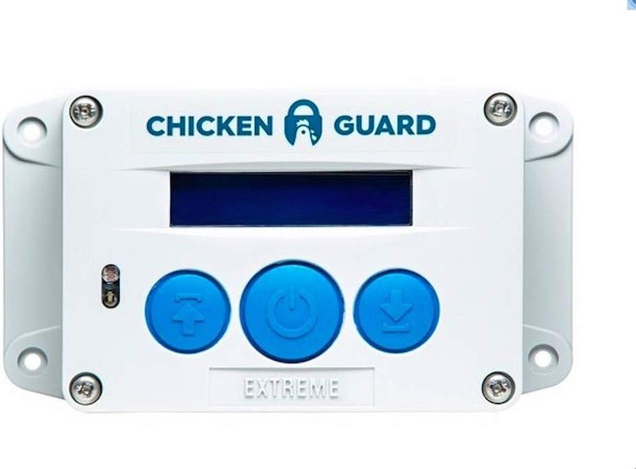ChickenGuard ® Extreme - Sistema de Apertura Automática para Puerta de Gallineros