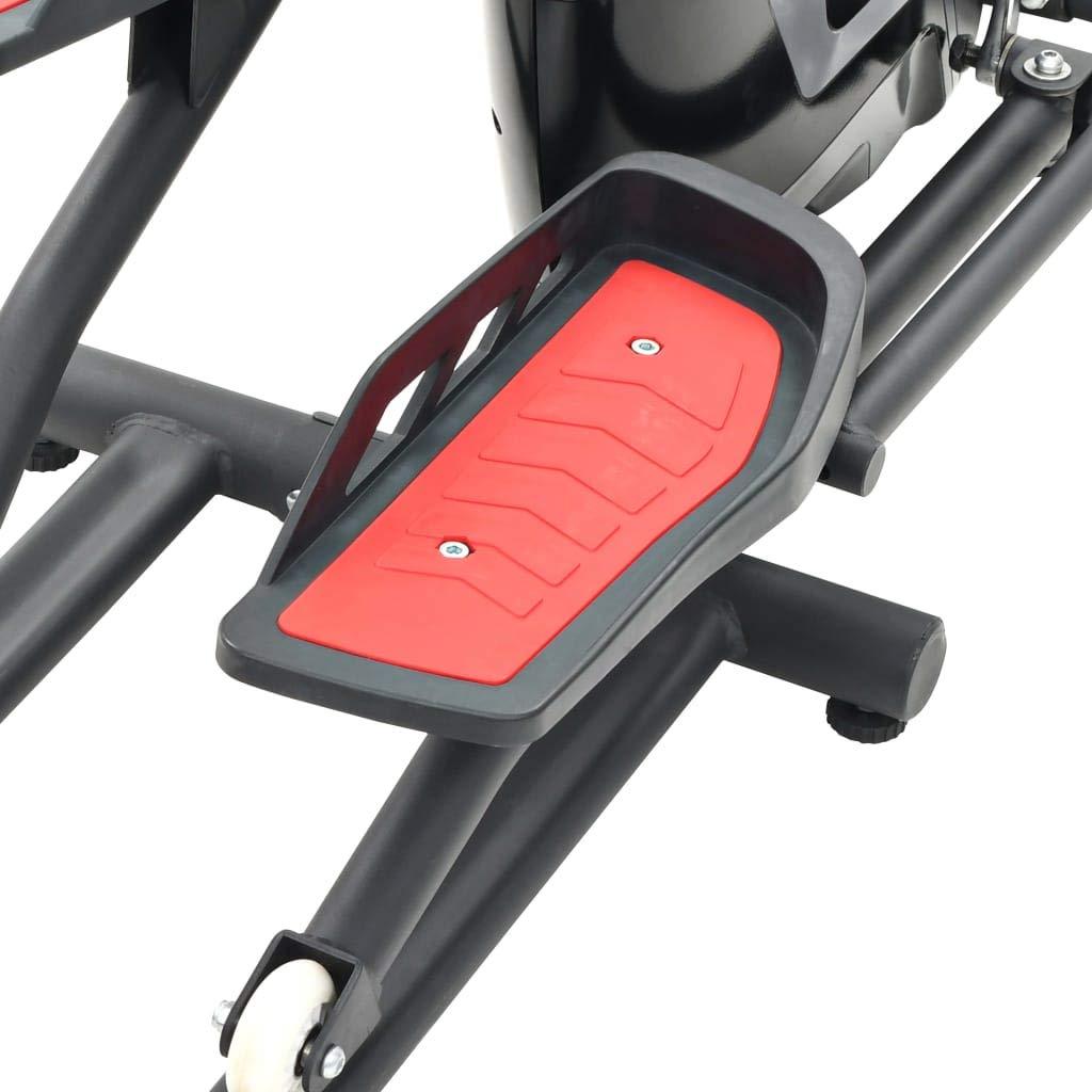 Crosstrainer Fitness & Jogging vidaXL Crosstrainer XL 18kg Drehmasse Puls Ellipsentrainer Ergometer Fitness