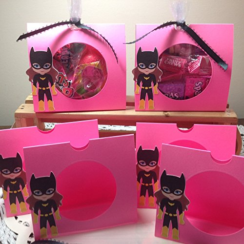 just-6-girl-super-hero-candy-treat-holders-bat-includes-holders-ribbon-and-clear-bags-party-favors-p