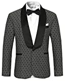 Hanayome Men's Suits Exclusive Design Classic Wedding Dresses Jackets Tuxedos SI55£¨Grey,2XL£