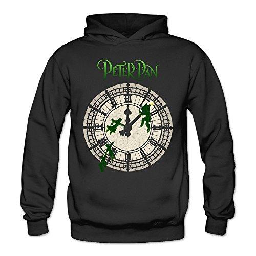 [MARC Women's Peter Pan Clock Logo Sweater Black Size XL] (Peter Pan Cast Costumes)