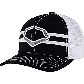 7913cfd6 Wilson Sporting Goods Evoshield Grandstand Flexfit Hat, Black/White,  Large/X-Large(7 3/8 - 7 5/8)