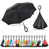 Sharpty Inverted Umbrella, Double Layer Windproof Umbrella, Reverse Umbrella, Umbrella with UV Protection, Upside Down Umbrella with C-Shaped Handle: more info